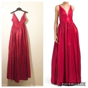 NWT Fame & Partners Red Astrid Full Length Gown